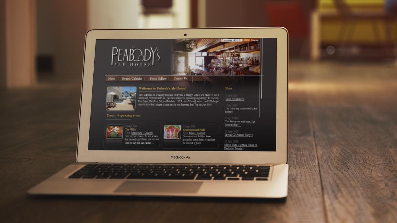 Промо-сайт Peabody's